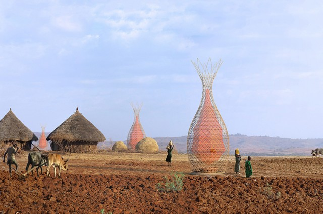 Photo credit: Architecture and vision. These towers could provide water in some of the driest regions of the planet (artist's impression, yet to be constructed onsite).